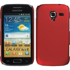 Hardcase Samsung Galaxy Ace 2 rubberized red Cover + protective foils