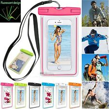 Hot Luminous Glow Waterproof Underwater Pouch Dry Bag Case Cover for Cell Phone