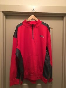 NWT Men's 2XL  Old Miss Rebels 1/4 Zip Red Pullover with Kangaroo Pockets (C3)