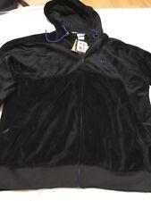 Men's ZIPWAY BLACK VELVET LOOK GOLDEN STATE WARRIORS VELOUR FULL ZIP HOODIE XL
