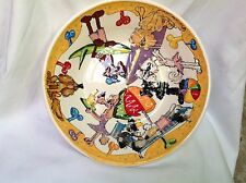 "Poodle 16"" Ceramic Pasta Bowl Signed by Artist Debby Carman"
