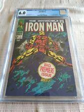 THE INVINCIBLE IRON MAN #1 CGC 6.0 BIG PREMIERE ISSUE!!! ORIGIN OF IRON MAN!!!