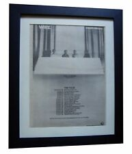 WIRE+Chairs Missing+POSTER+AD+QUALITY FRAMED+RARE ORIGINAL 1978+FAST GLOBAL SHIP