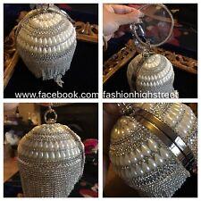 INDIAN/PAKISTANI Bridal Pearl Diamond/Clear stone Clutch,evening purse,bag