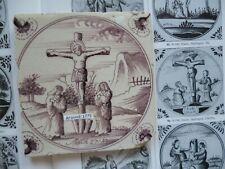 ANTIQUE DELFT BIBLE TILE AROUND 1775