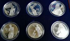 Coffret pièce monnaie 6 x 100 francs Bicentenaire LOUVRE ARGENT Monnaie Paris BE