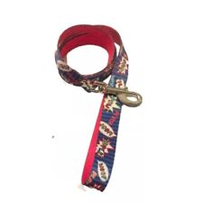 Dog Leash Large Red & Blue Top Paw Puppy Pet Walking
