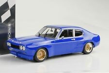 1970 FORD CAPRI MKI RS 2600 rs2600 Plainbody bleu 1:18 Minichamps QUALITE