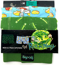 Rick and Morty Unterwäsche Set 2 Hipster Shorts Slip Herren Comic Unterhose XS