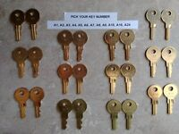 Pair of A1-A24 Cash Drawer Keys MICROS, NCR, Aloha, APG, HP, Dell, Radiant, PAR