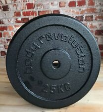 """Cast Iron Weight Plates Barbell Plate 1"""" Dumbbell Weights Disc Olympic Discs 2 X 25kg"""