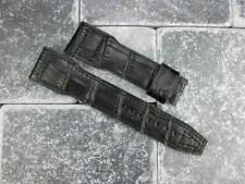 New IWC 22mm Black GATOR Grain Leather Strap Watch Band BIG PILOT