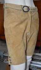 Trachten Herren Lederhose BECKERT Wiesn Stickerei True Vintage leather trousers