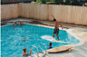 Pool Kids FOUND PHOTO Original COLOR Snapshot PHOTOGRAPHY Free Shipping M 81 27