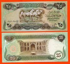 IRAK RARE  billet neuf  25 DINAR Pick 72  SADDAM HUSSEIN  SUISSE IMPRESSION 1980