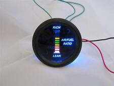 """Air/Fuel Ratio Gauge 2"""" Blue LED Digital Black face with Red/Yellow/Green Digits"""