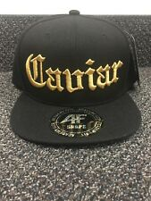 Caviar Academy Fits Baseball Cap Black and Gold- Hemp on Back