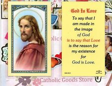 God is Love - Laminated Holy Card