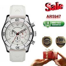 100% NEW AUTHENTIC EMPORIO ARMANI AR5947 Sport White Chronograph Watch