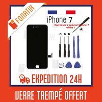 ECRAN LCD POUR IPHONE 7 NOIR + VITRE TACTILE SUR CHASSIS + KIT OUTILS OFFERT!