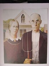 AMERICAN GOTHIC by GRANT WOOD - MAN WOMAN PITCHFORK FARM - NEW POSTERS FOUND