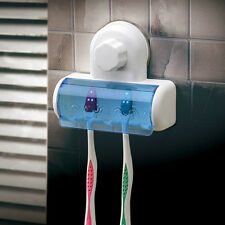 Plastic Dust-proof Toothbrush Hold #V Bathroom Kitchen Family Suction Cup Holder