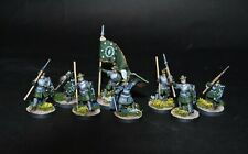 Warhammer lotr Middle Earth Warriors of Arnor warband - 8 metal figures painted