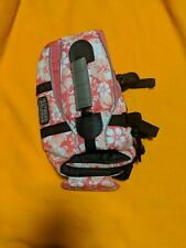 Outward Hound Ripstop Dog Life Jacket Quick Release Easy-fit Small Pink Hibiscus