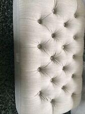 Bramley&White Small Grey Linen Footstool