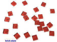 LEGO Clair Rouge / 1x1 x0.33 plaques / 20 pièces