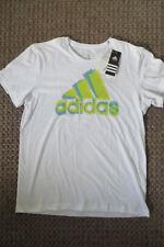 ADIDAS T-SHIRT M, Sportshirt Top 48 50, SUMMER LOGO weiß,gelb grün blau, Pixel B
