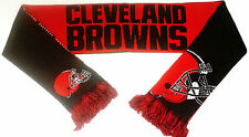 Cleveland Browns Scarf Sixty Four Inch Length Reversible with Split Logo