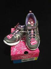 Girls Youth Size 1 Skechers Shoes Sneakers Brand New Pink Gray Back To School