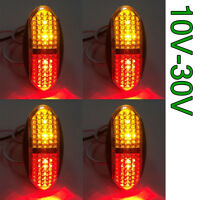 4pcs 4 LED SIDE MARKER TRAILER TRUCK CLEARANCE BOAT LIGHT AMBER RED 12V 24V DC