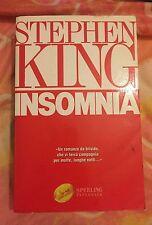 Libro stephen king INSOMNIA  copertina rigida lingua italiana 1°EDIZIONE