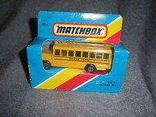 279B Vintage Matchbox 1/76 MB 47 Bus School Bus School District 2 USA 1:76