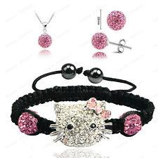 Children's Girls Kids XMAS Jewelry Set Gift Necklace Bracelet & Earrings Silver