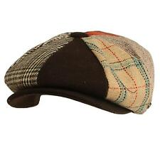 Men's Wool Winter Herringbone Plaids Newsboy Cabbie Gatsby Cap Hat Brown XL 60cm