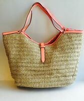Stella And Dot Coral Riviera Tote Bag
