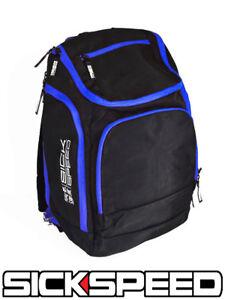 SICKSPEED BACK PACK SCHOOL BAG BACKPACK SEATBELT SEAT BELT PAD RACING BLUE P1
