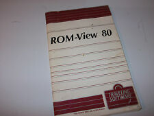 TRAVELING SOFTWARE ROM-VIEW 80 MANUAL TRS-80 MOD100/200 NEC PC-8201 VINTAGE