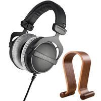 BeyerDynamic DT 770 PRO 250 Ohms Studio Headphones + Wood Headphone Stand