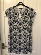Ladies Blue & White Sleeveless Dress/Long Top Mango Suit Collection BNWT Size 6