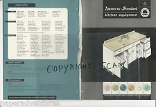 1954 AMERICAN STANDARD Kitchen Cabinets Units Sinks Disposals Design Vtg Catalog