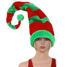 Novelty Funny Long Bendable Striped Plush Christmas Clown Elf Hat Cap Xmas 90cm