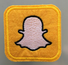 """PATCH SOCIAL NETWORKING MEDIA - 2 1/2"""" x 2 1/2"""" - A SNAPCHAT"""