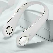 USB Leafless Neck Fan Cooler Rechargeable Dual Effect Cooling Neckband Fan HA