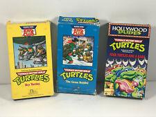 TMNT VHS Lot (x3) Teenage Mutant Ninja Turtles Burger King Kids Club NO MOLD