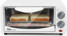 Elite Gourmet Eto-224: 2 Slice Countertop 15 Minute Timer Toaster Oven, Broil
