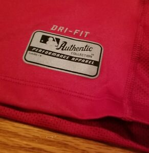 NIKE Philadelphia PHILLIES Dri-Fit SHIRT Mens M baseball pro training harper
